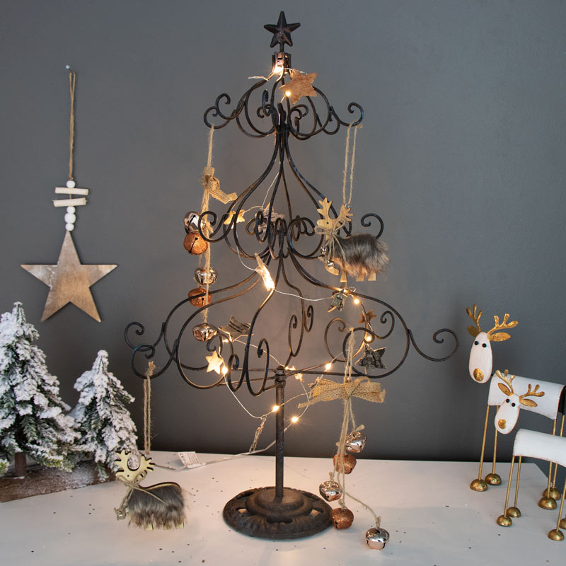 Tall Rustic Metal Christmas Tree