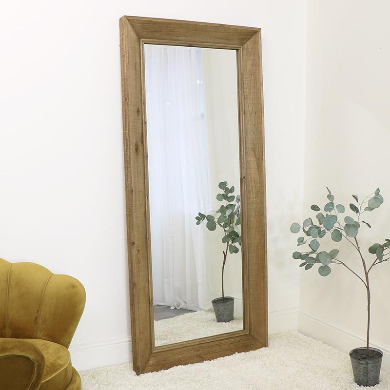 Tall Rustic Wooden Mirror 84.5cm x 189cm