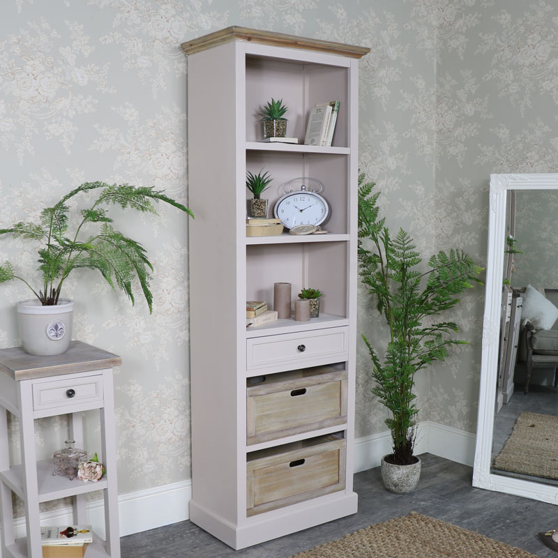 Tall Slim Bookcase Display Unit - Cotswold Range