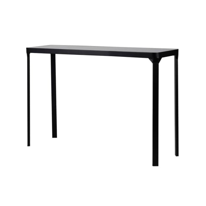 Black Metal & Glass Console Table