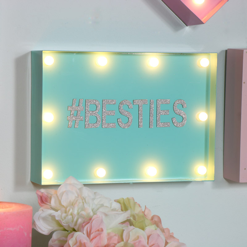 Turquoise 'Make your own message' LED Light Box