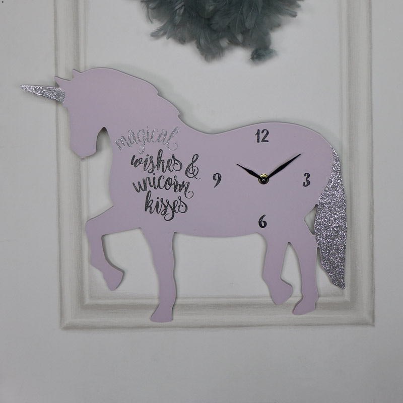 "Unicorn Wall Clock ""Magical Wishes"""