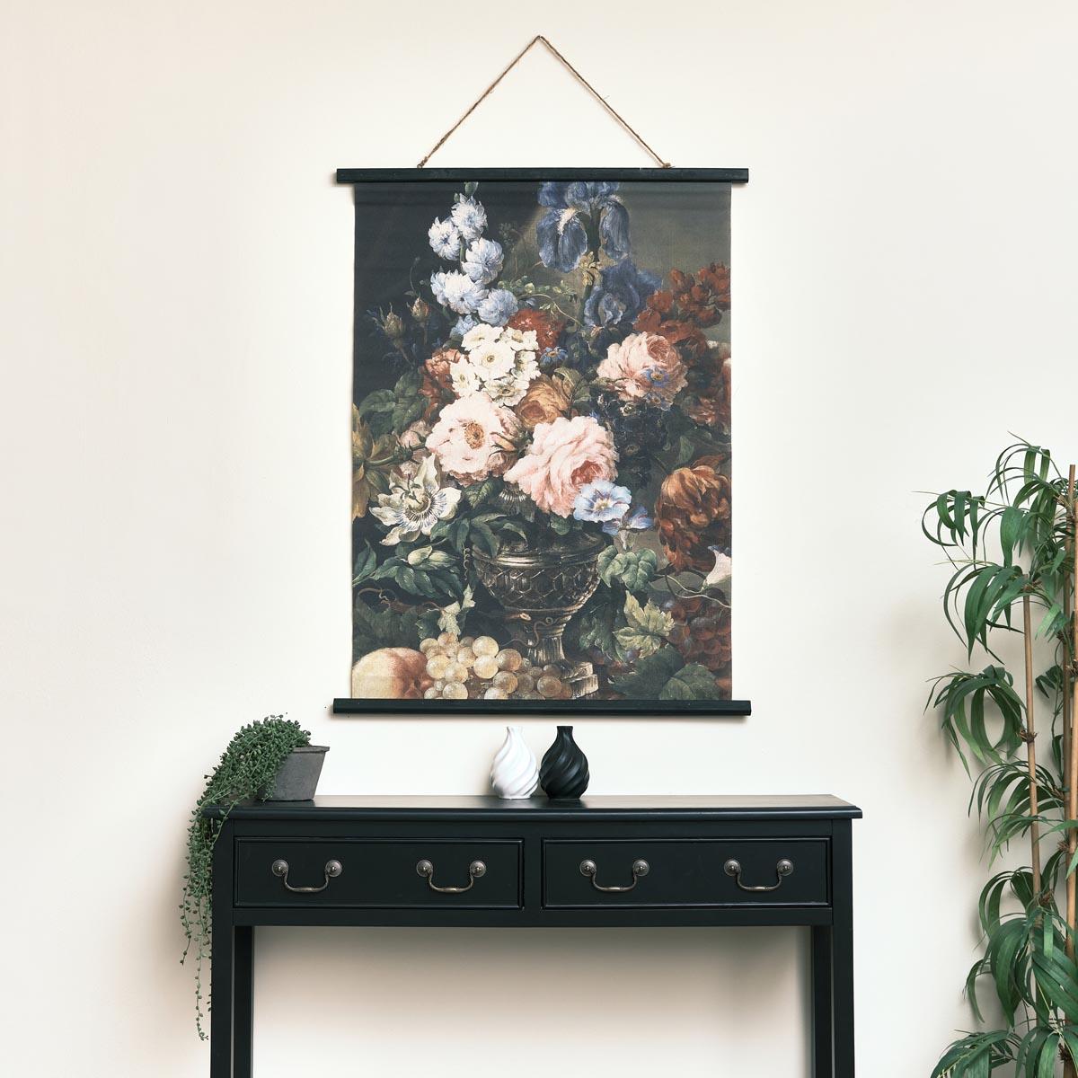 Vintage Floral Design Wall Canvas