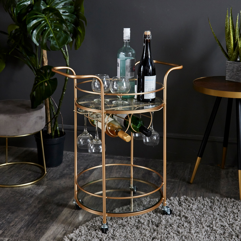 Gold Bar Cart Drinks Trolley