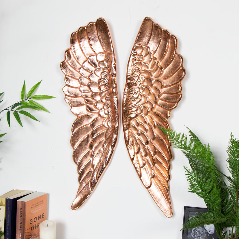 Copper Decorative Wall Mountable Angel Wings
