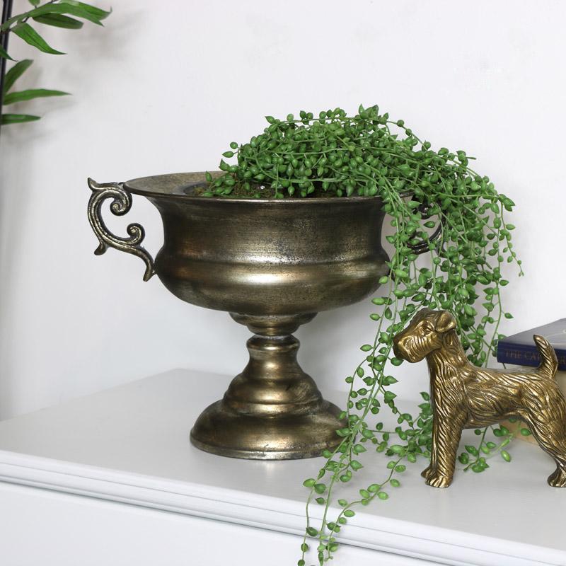 Vintage brass look Urn