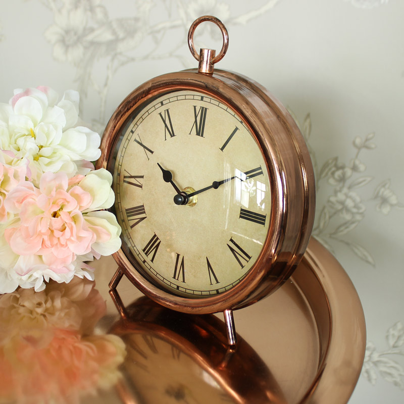 Vintage Copper Style Mantel Clock