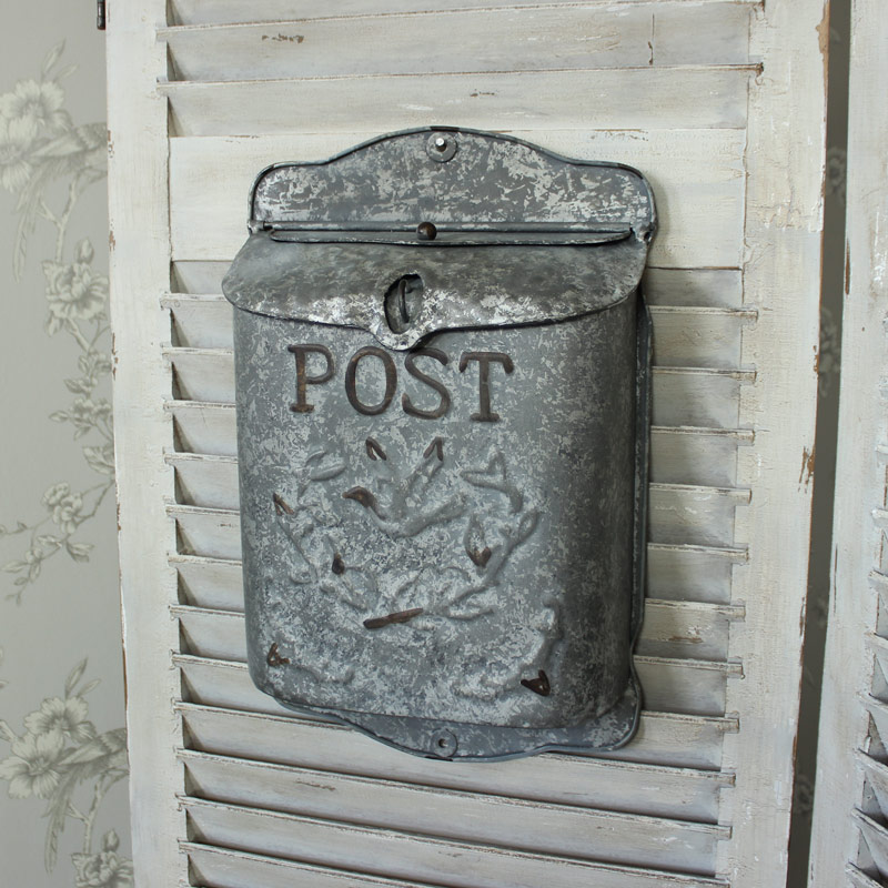 Vintage Wall Mounted Metal Post Box