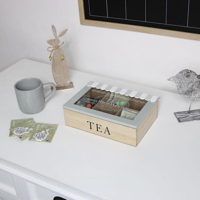 Vintage Wooden Tea Storage Box