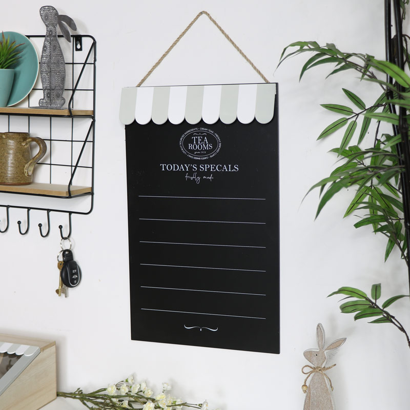 Wall Mounted Chalk Board - Tea Rooms