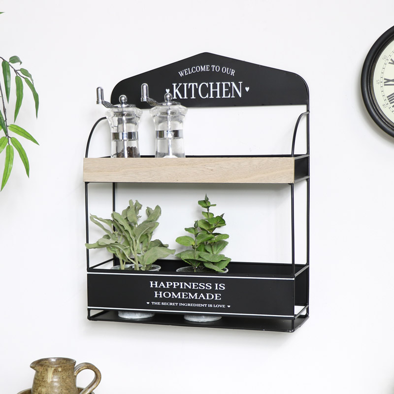 Wall Mounted Kitchen Shelf Unit