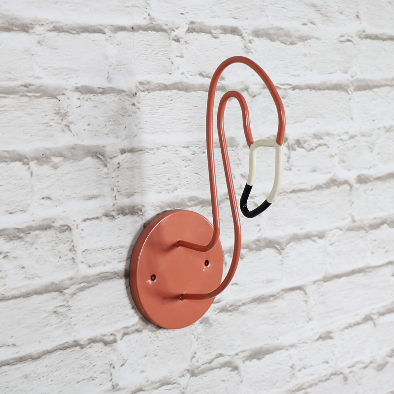 Wall Mounted Metal Flamingo Head Wall Art