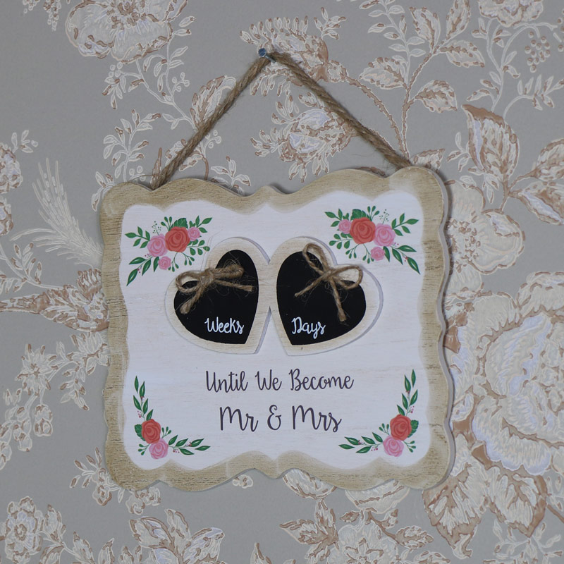 Wedding Countdown Wall Hanging Plaque