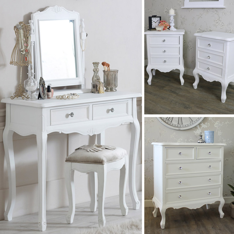 White Bedroom Furniture Chest Of Drawers Dressing Table