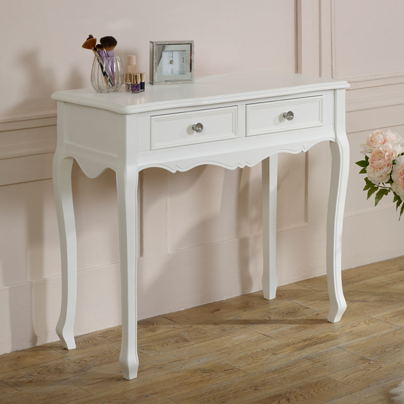 White console dressing table French shabby chic bedroom living room ...