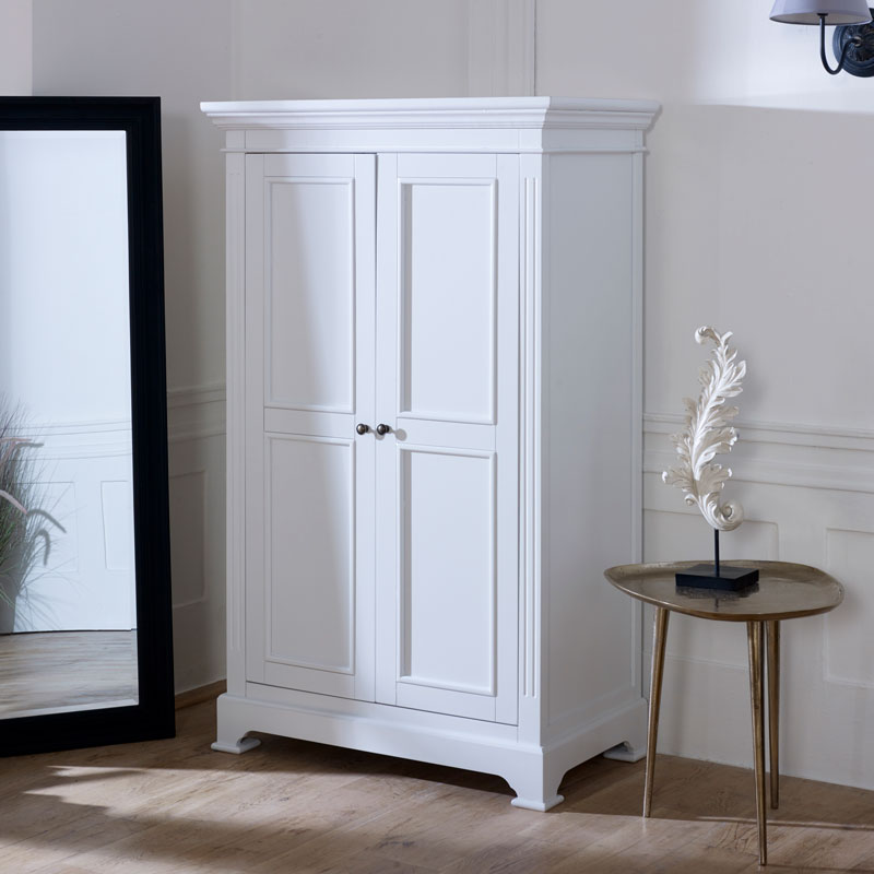 White Linen Closet/Low Wardrobe - Daventry White Range