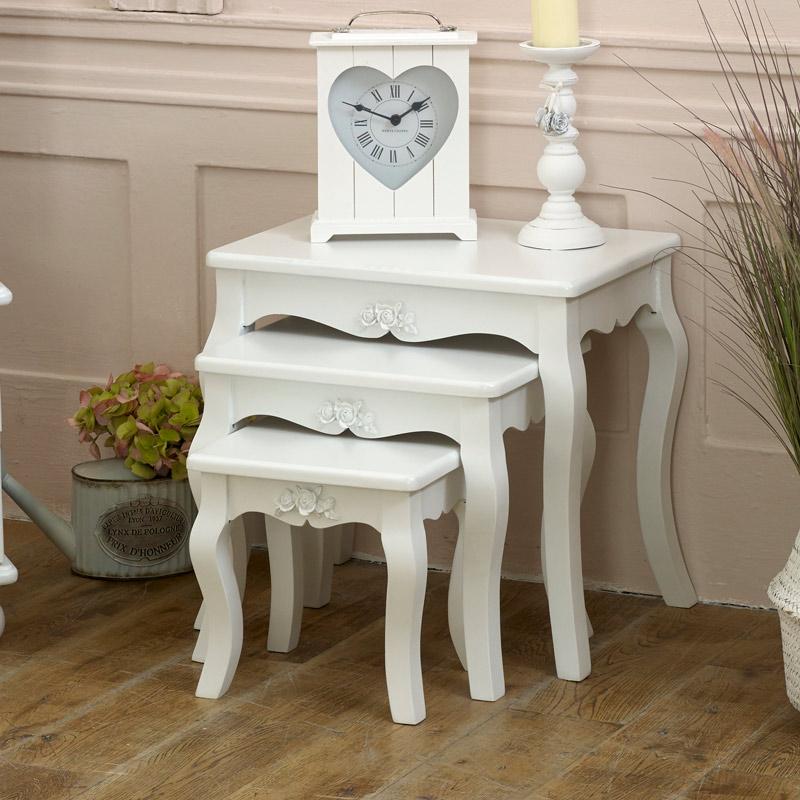 White Nest of Tables - Lila Range DAMAGED SECOND 7150