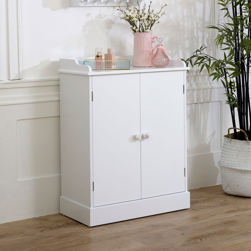 White Sideboard Cupboard Unit - Lila Range