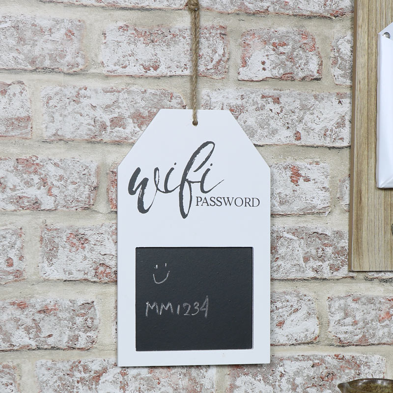 White Wi-Fi Password Blackboard
