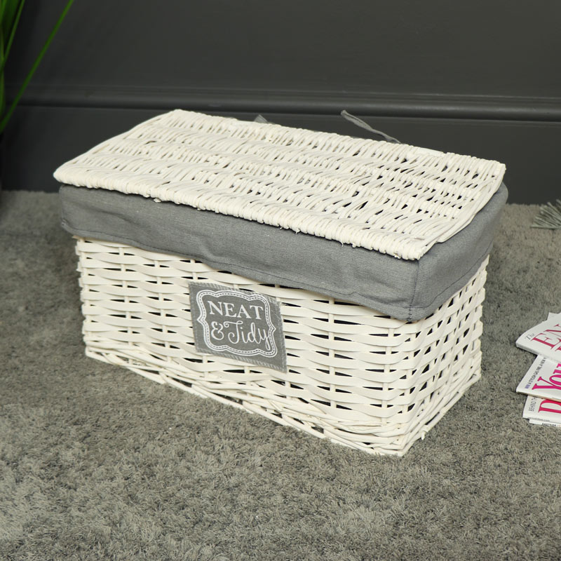 White Willow Wicker Storage Basket