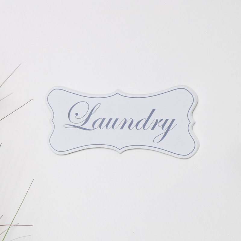 White Wooden 'Laundry' Hanging Plaque