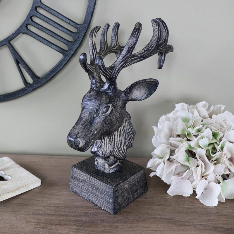'Bronze' style Stag's Head Bust