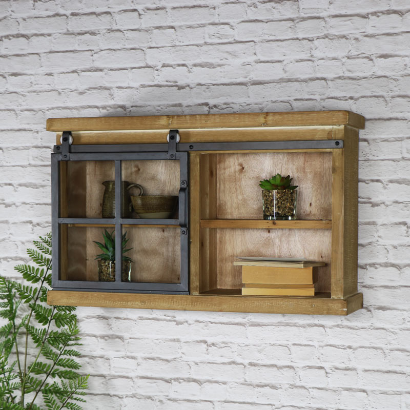 Wooden Industrial Style Wall Cabinet