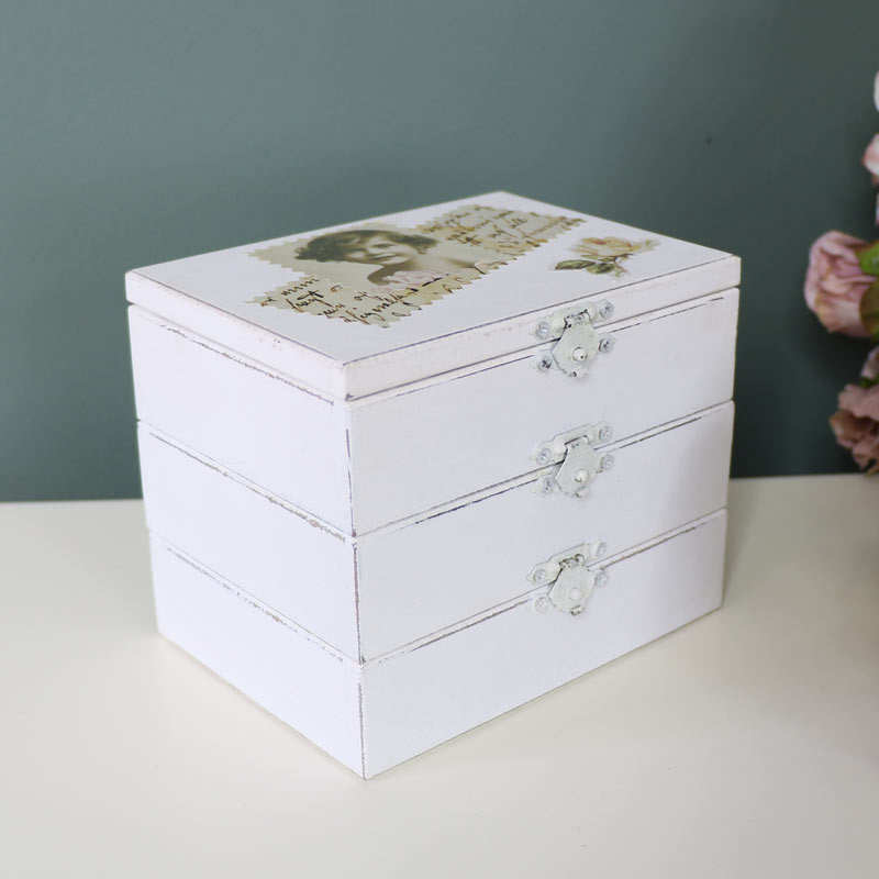 Wooden Postcard Style Jewellery Box