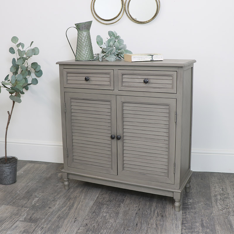Wooden Storage Cupboard with 2 Drawers - Hornsea Range