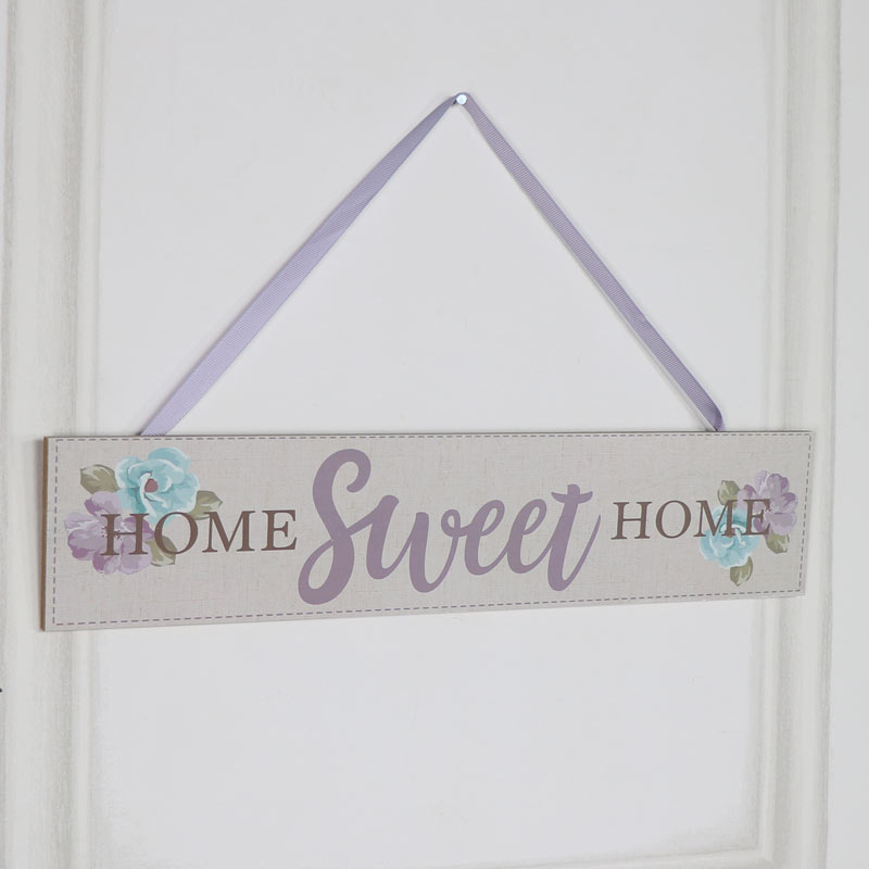 """Wooden Wall Plaque """"Home Sweet Home"""""""
