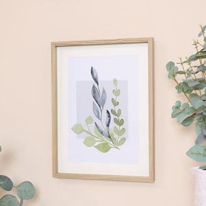 Botanical Blue Leaf Wall Print