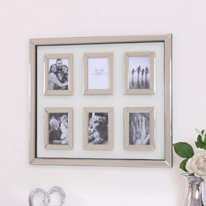 Mirrored & Glass Multi Photo Frame