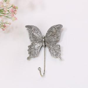 Silver Butterfly Wall Hook