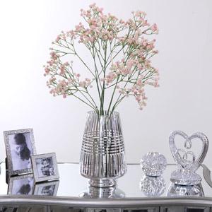 Silver Striped Vase