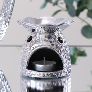 Diamante Silver Oil Burner