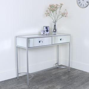 Silver Mirrored Console Hall Table - Thalia Range