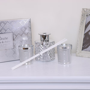 Silver Candle & Diffuser Gift Set
