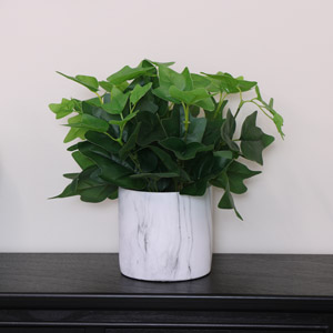 Faux Ivy Plant With Marble Planter