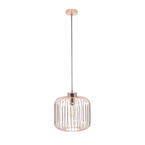 Rose Gold Metal Wire Pendant Light