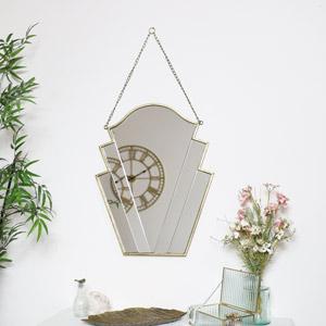 Gold Art Deco Wall Mirror