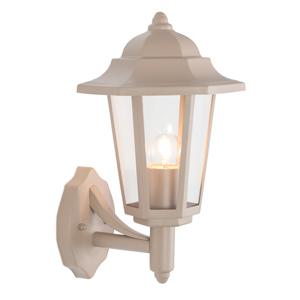 Taupe Metal Vintage Lantern Wall Light