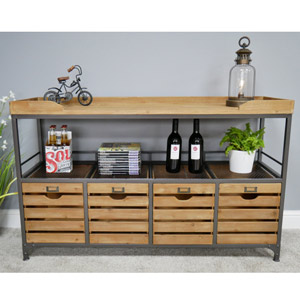 Large Industrial Storage Sideboard