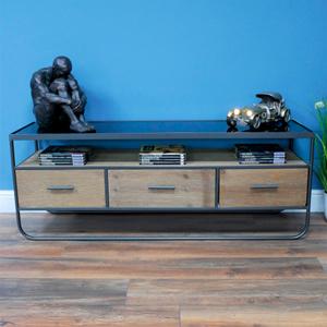 Rustic Industrial Low Sideboard/TV Cabinet