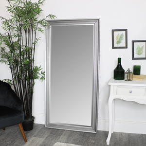 Large Silver Full Length Mirror 78 x 158cm