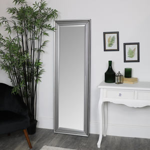 Tall Silver Full Length Mirror 52 x 160cm