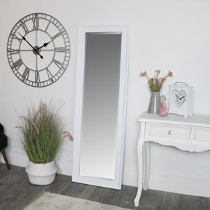 Tall White Full Length Mirror 52 x 160cm