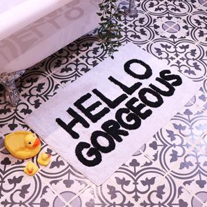White Bath Mat - Hello Gorgeous