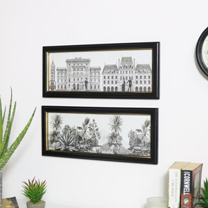 Pair of Monochrome Wall Prints