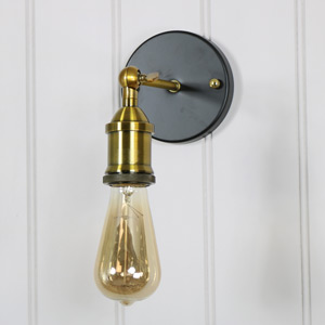 Adjustable Brass Retro Style Wall Light