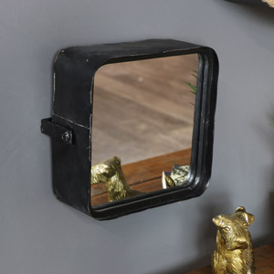 Adjustable Industrial Style Wall Mirror
